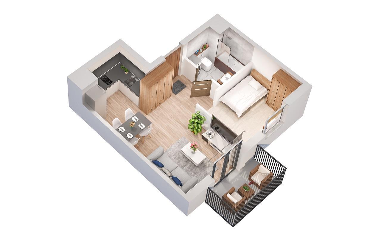 Rzut mieszkania: 5.B.121