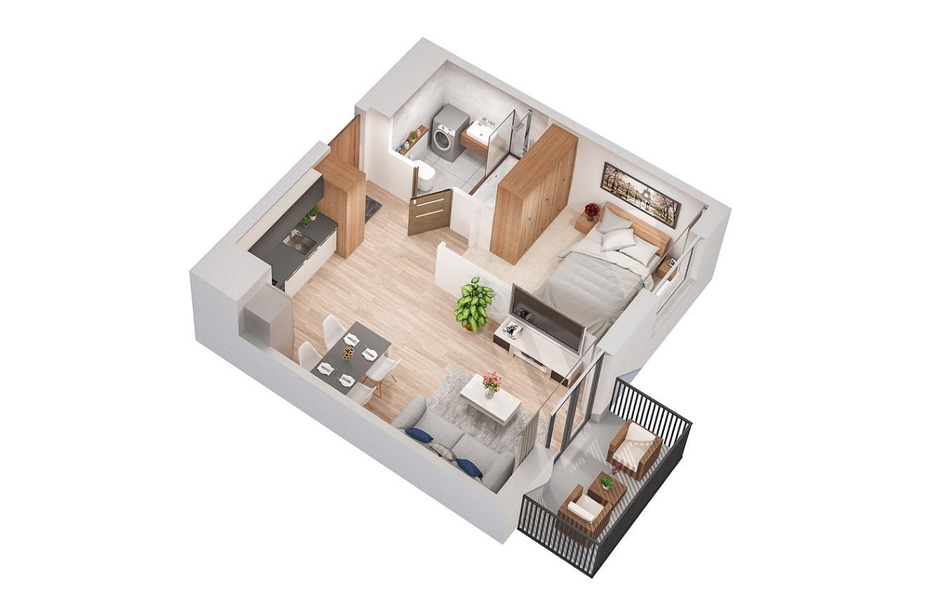 Rzut mieszkania: 2.A.17