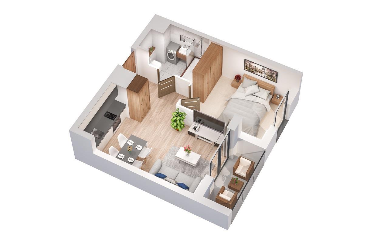 Rzut mieszkania: 2.B.78