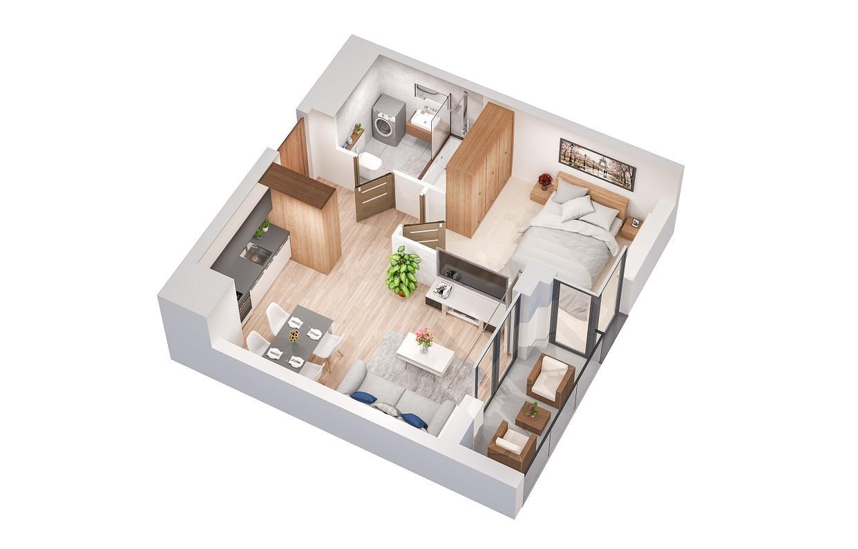 Rzut mieszkania: 2.B.80