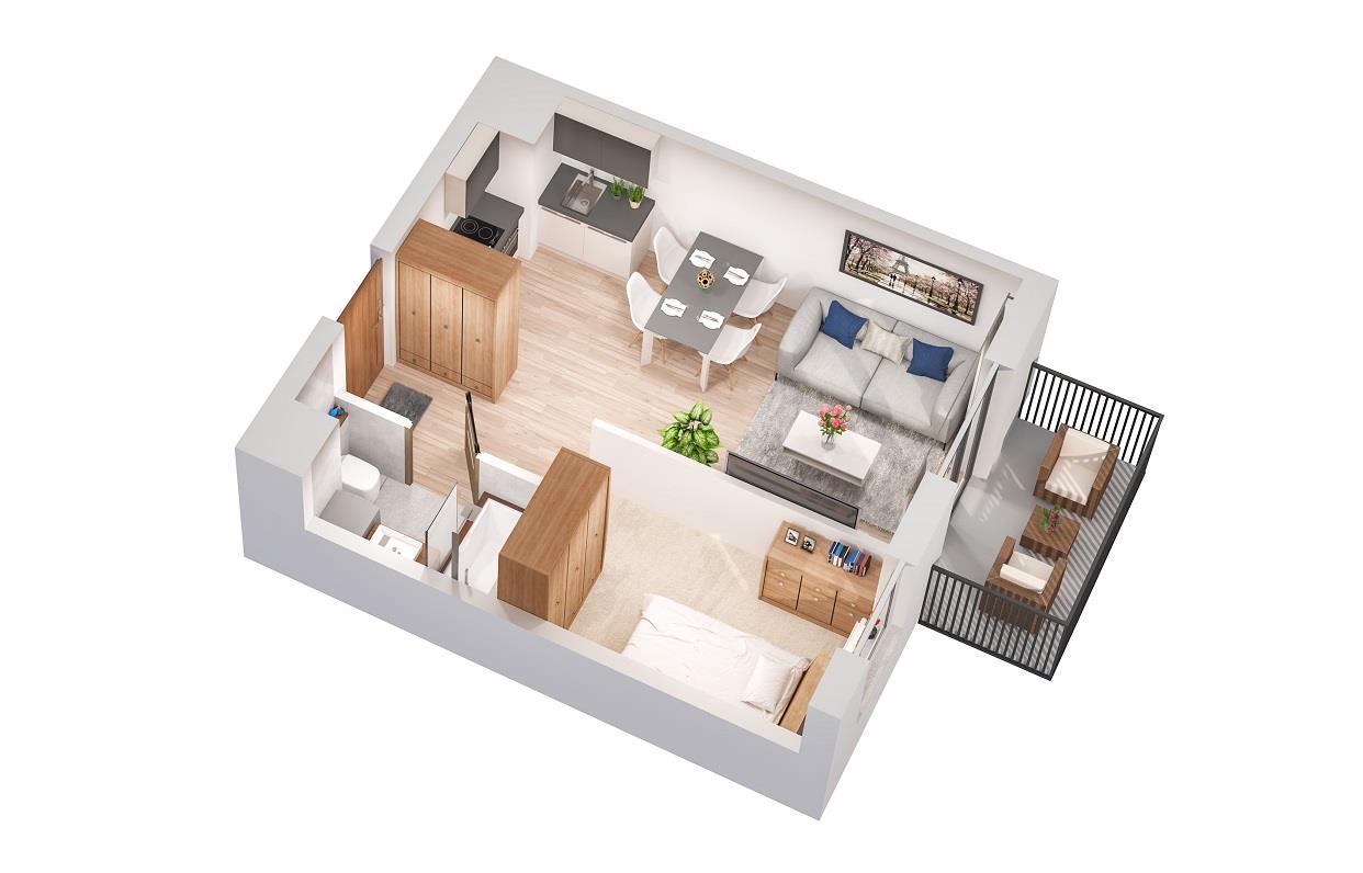 Rzut mieszkania: 2.B.83