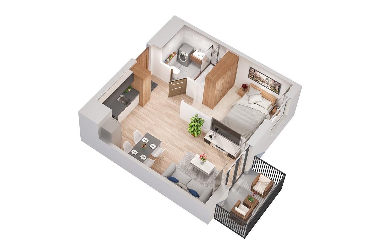 Rzut mieszkania: 2.B.84