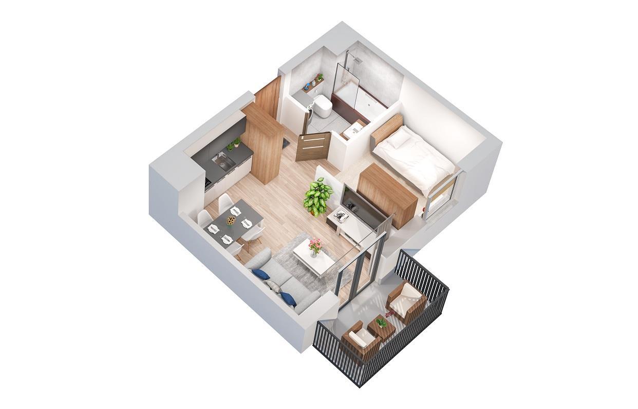 Rzut mieszkania: 3.B.89