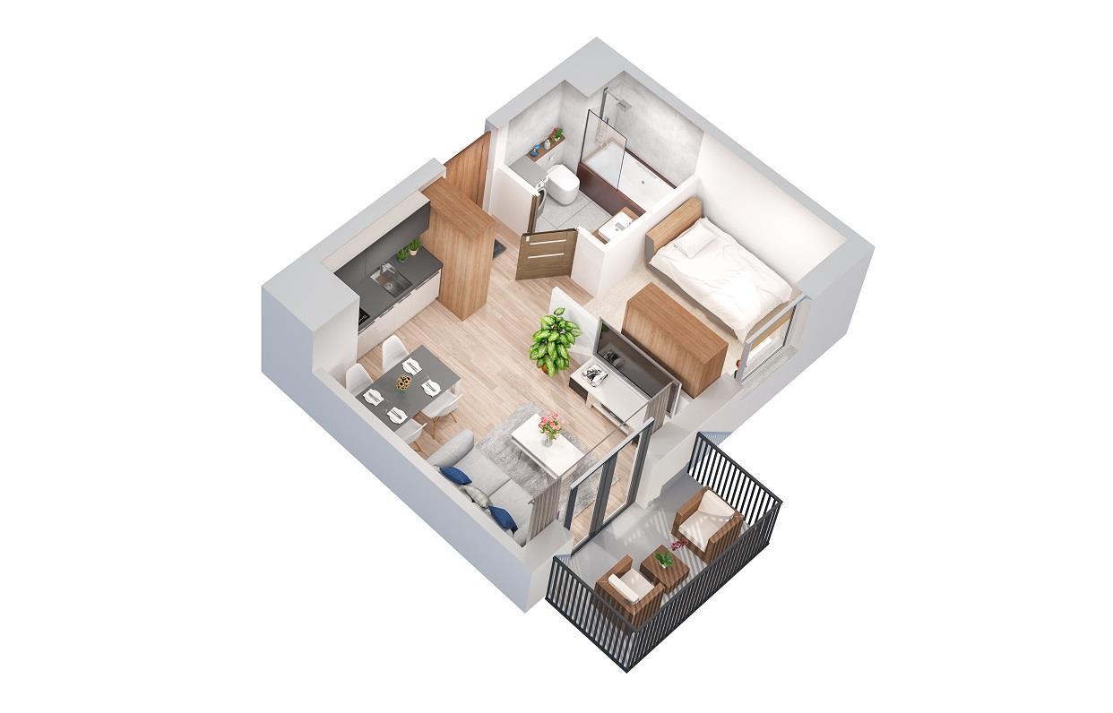 Rzut mieszkania: 3.B.101