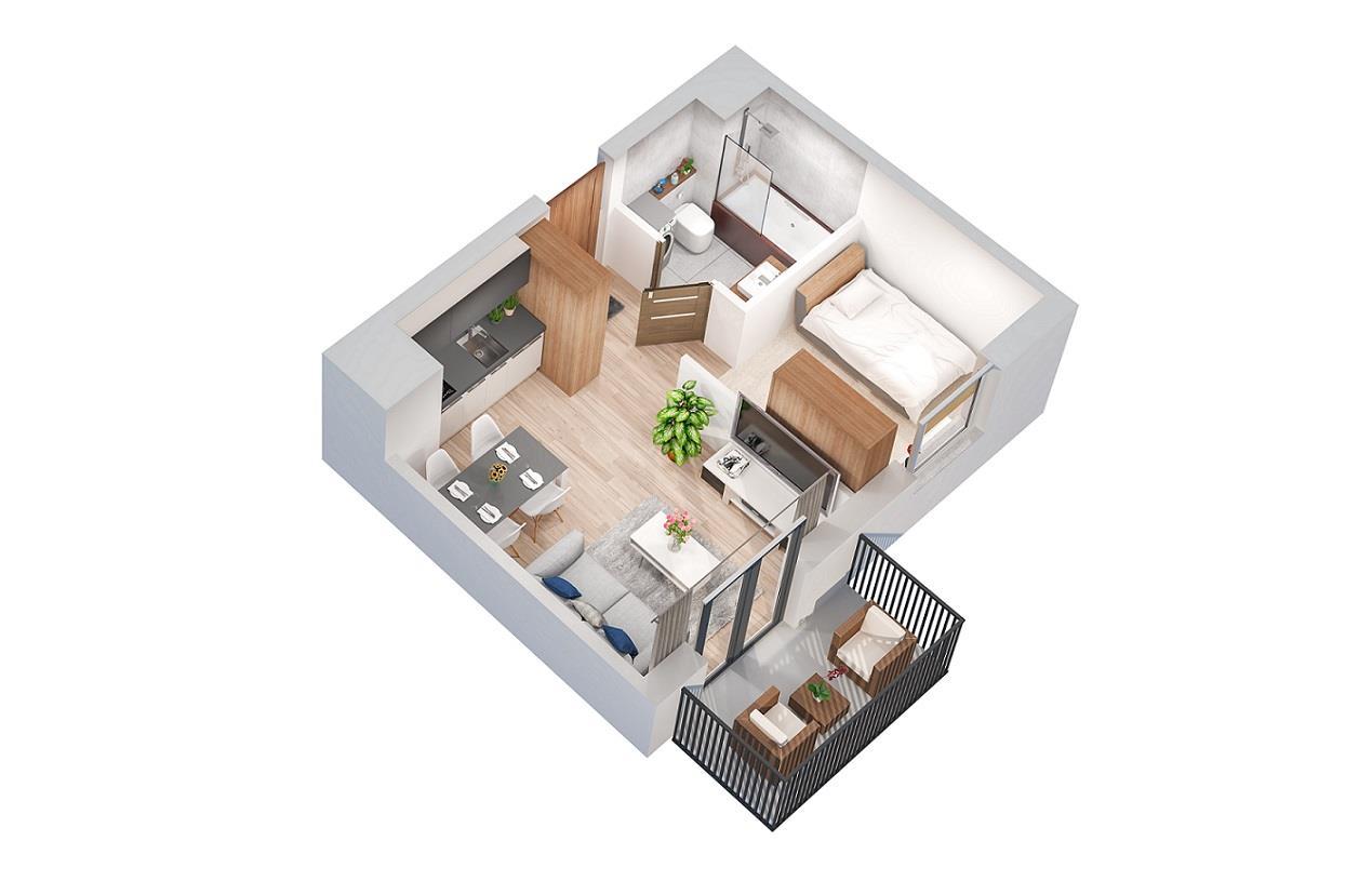 Rzut mieszkania: 4.A.30