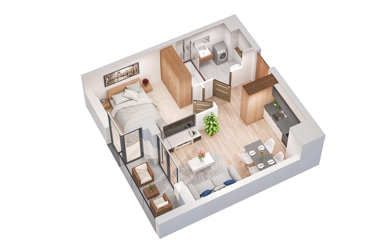 Rzut mieszkania: 4.A.36