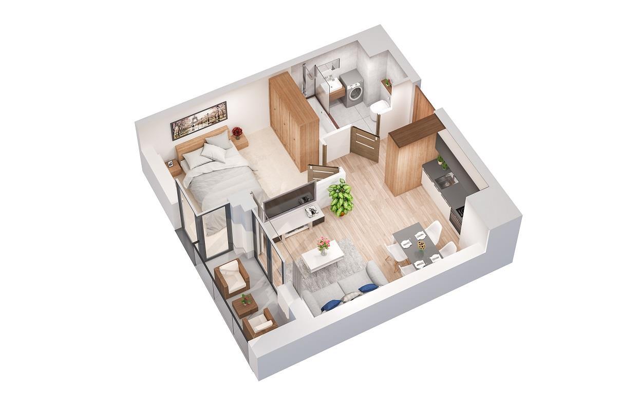 Rzut mieszkania: 4.B.107