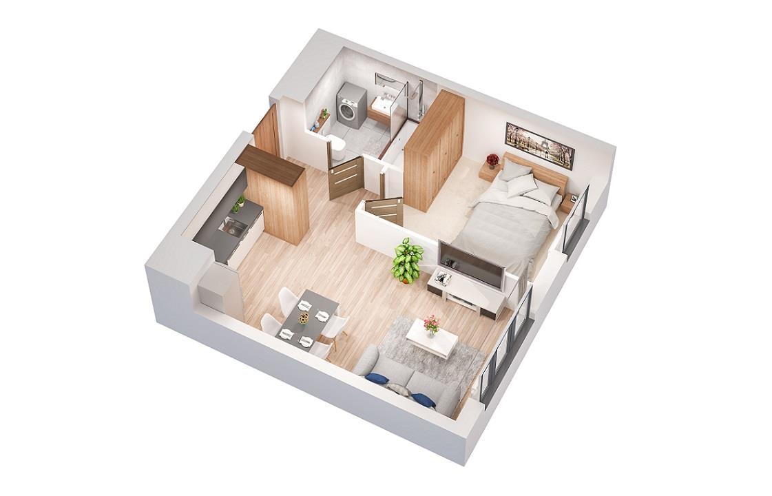 Rzut mieszkania: 0.B.50