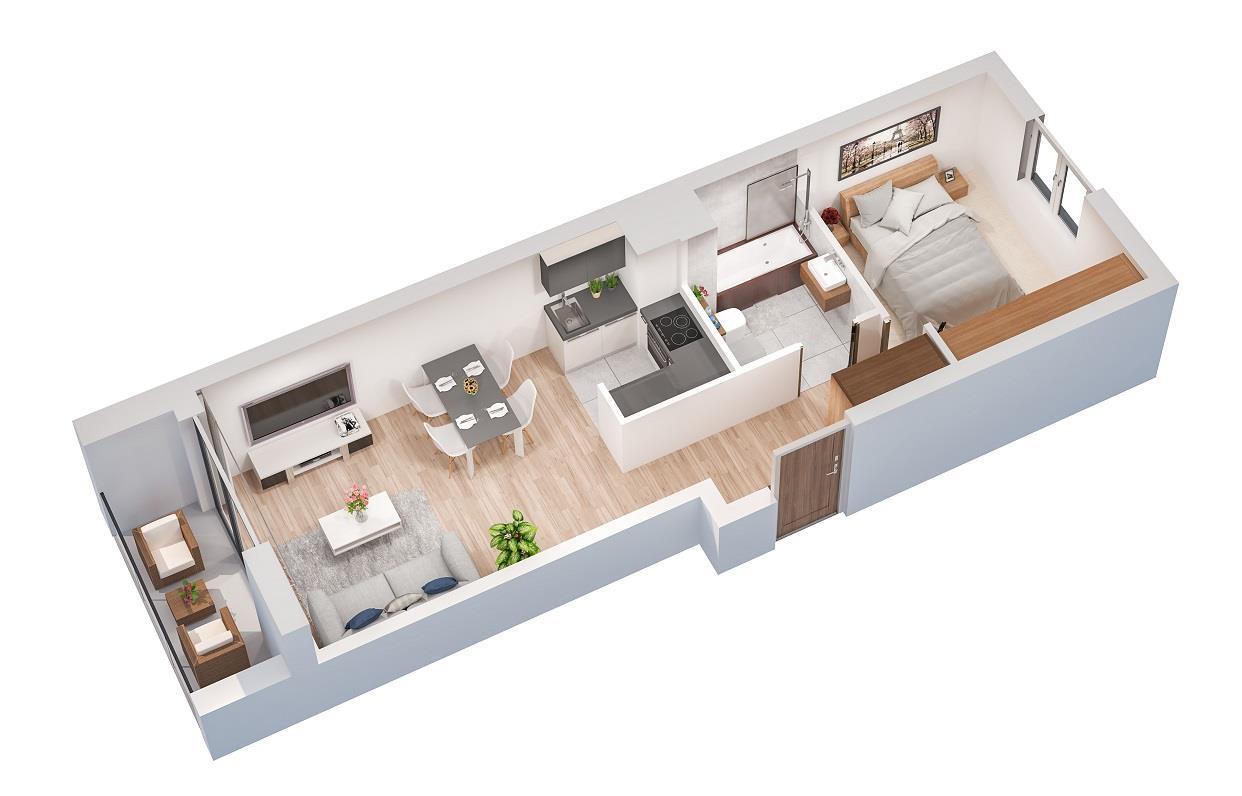 Rzut mieszkania: 5.A.45
