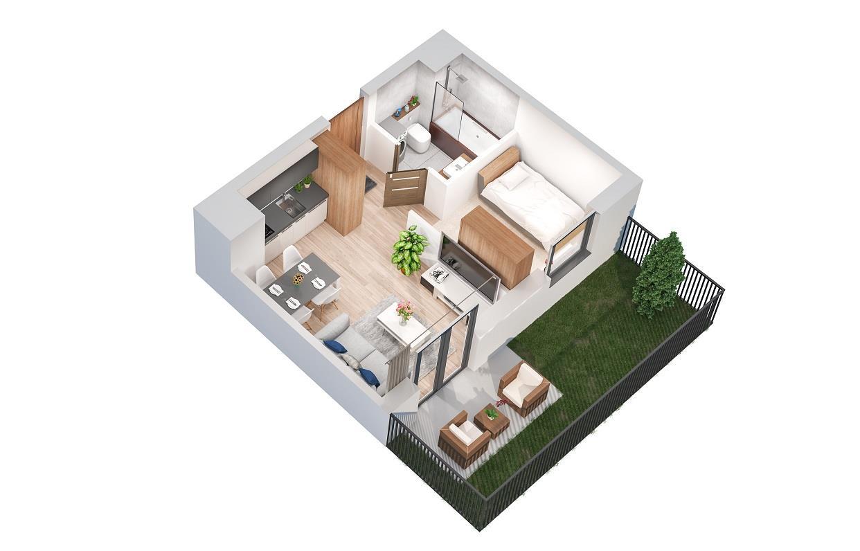 Rzut mieszkania: 0.B.56